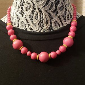 Banana Republic Pink Beaded Necklace